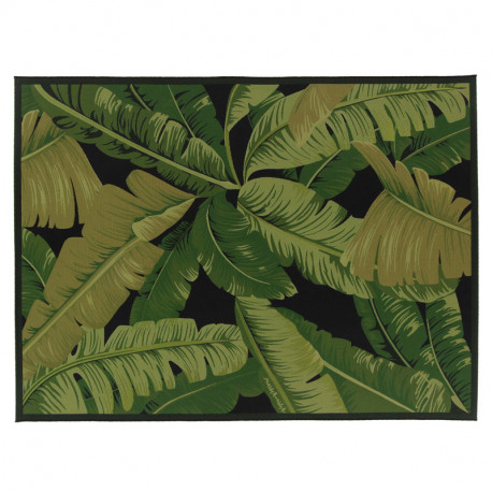 Tapis d'extérieur Tissu feuilles 160*230 - BREITOVO