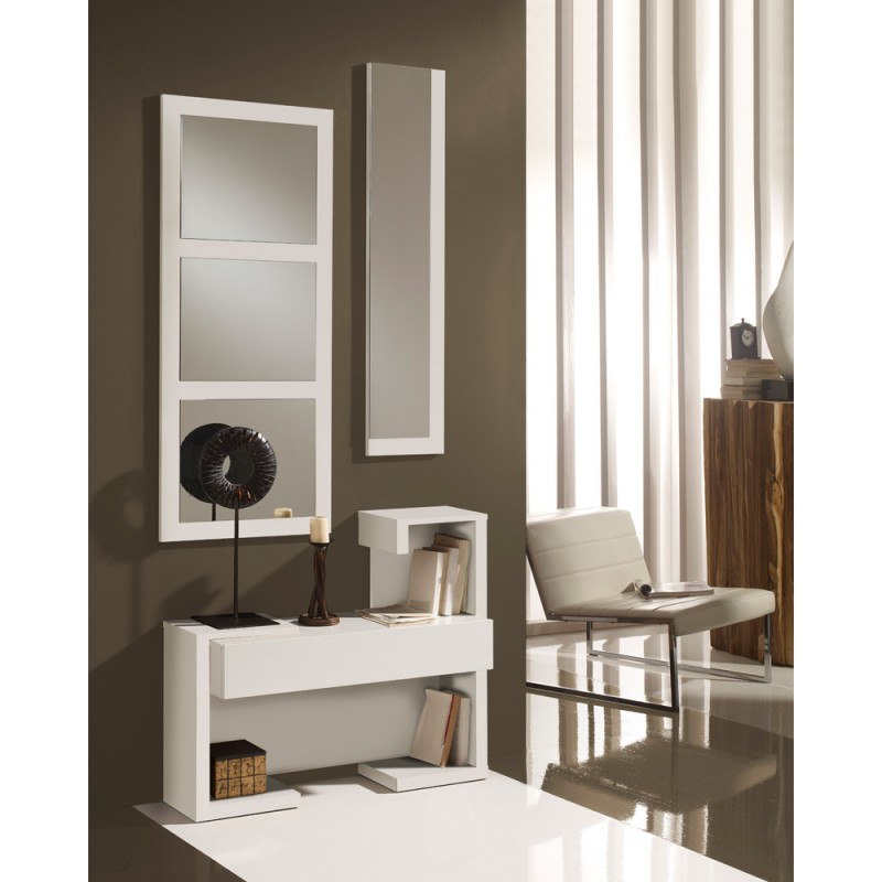 meuble d 39 entr e laque blanche paris univers petits meubles. Black Bedroom Furniture Sets. Home Design Ideas