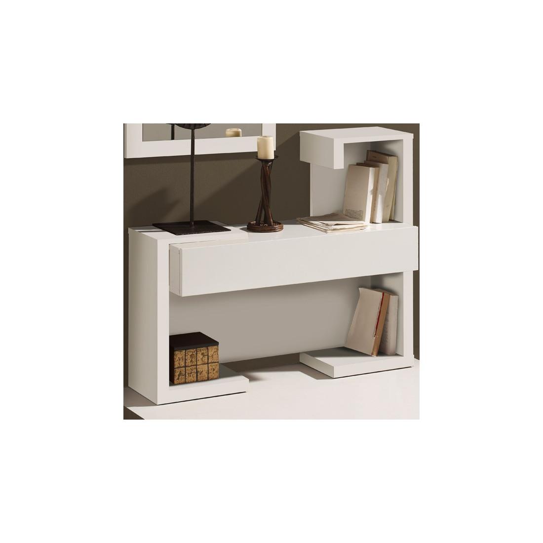 Meuble d 39 entr e laque blanche paris univers petits meubles for Grand miroir mural blanc laque