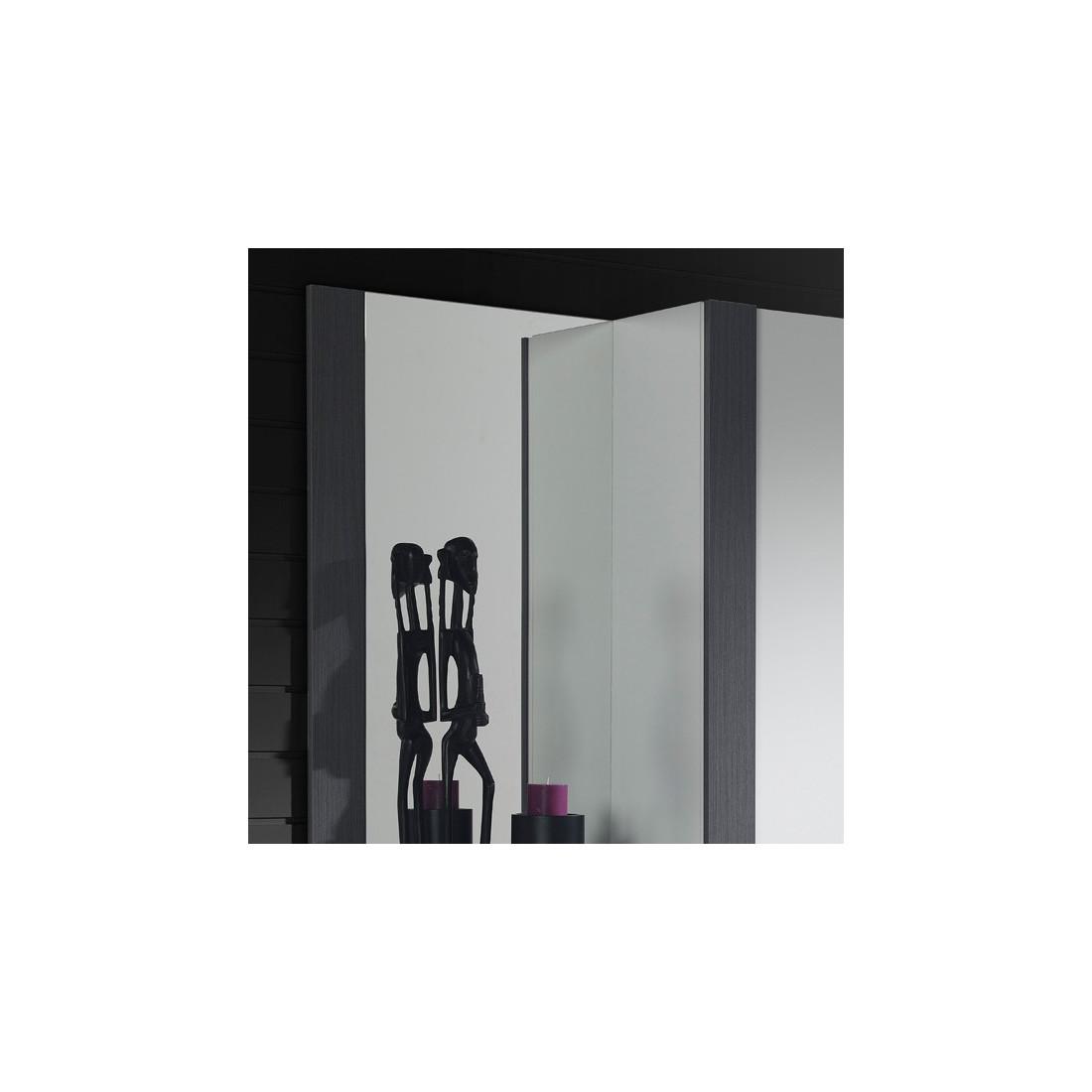 meuble d 39 entr e armoire miroir blanc cendre paoula. Black Bedroom Furniture Sets. Home Design Ideas
