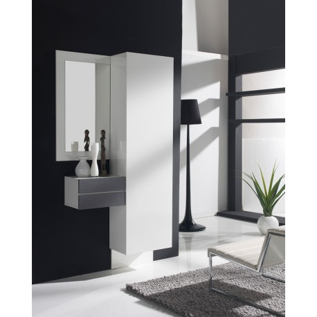 meuble d 39 entr e blanc cendre armoire courtoise univers petits meubles. Black Bedroom Furniture Sets. Home Design Ideas