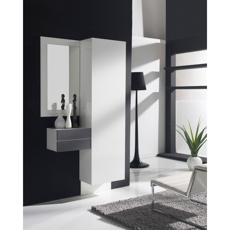meuble d 39 entr e blanc cendre armoire courtoise univers. Black Bedroom Furniture Sets. Home Design Ideas