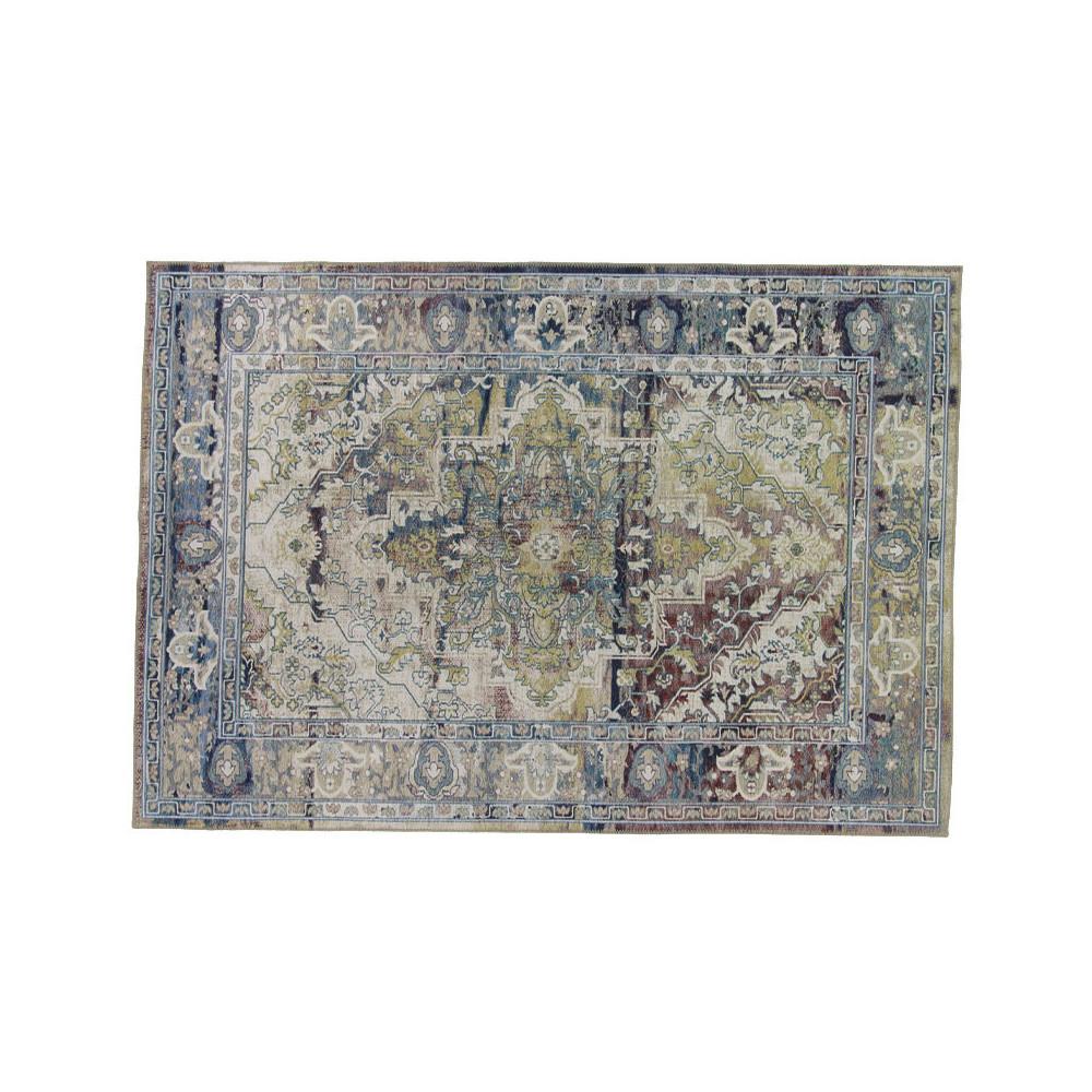 Tapis persan Tissu bleu/vert 190*290 - CHELTONIA