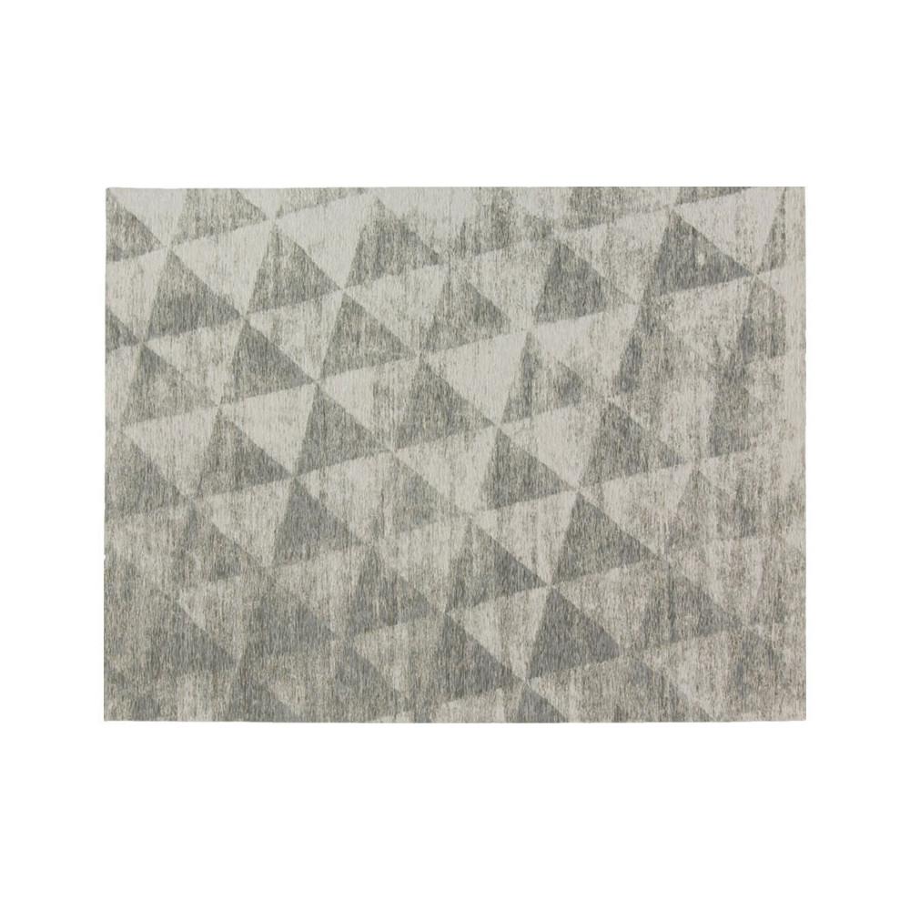 Tapis géométrique Tissu gris 200*300 N°4 - ALGARVIA