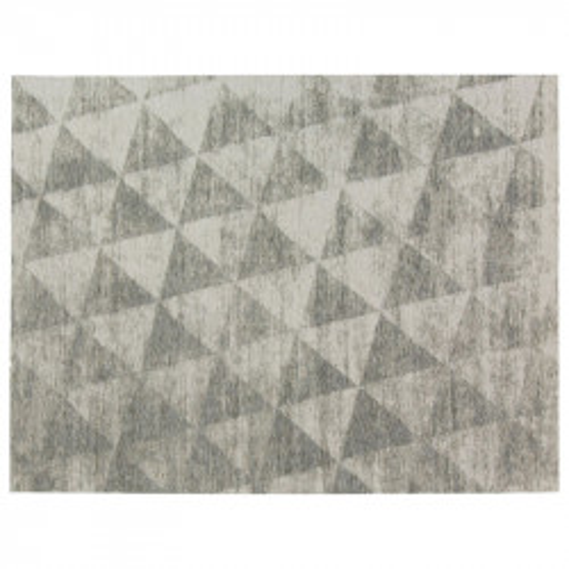 Tapis géométrique Tissu gris 170*230 N°4 - ALGARVIA