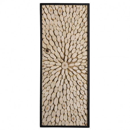 Tableau abstrait rectangulaire Branches Teck - KAYU
