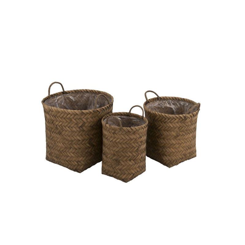 Trio de Paniers Fibres naturelles - BELOCERA