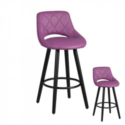 Duo de tabourets de bar Violet - FUN
