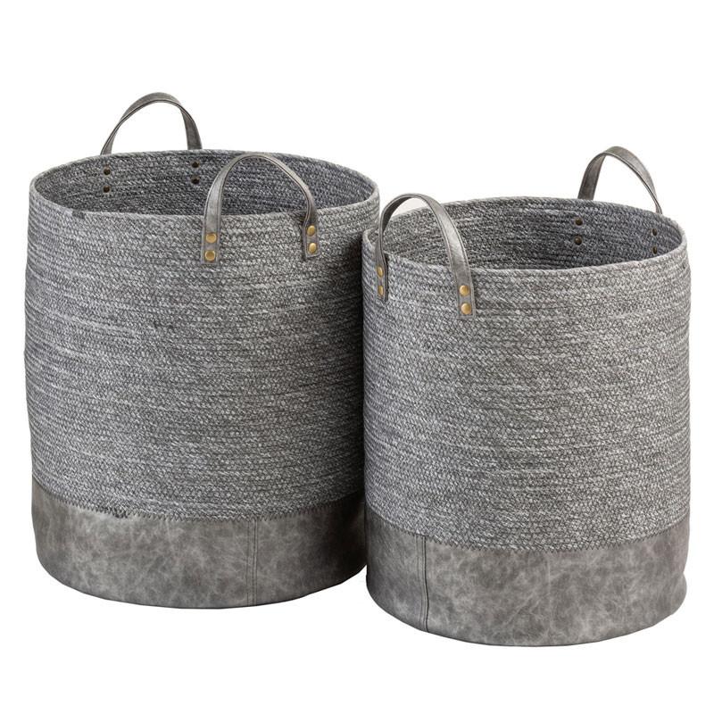 Duo de Paniers Fibres grises - LENCICO