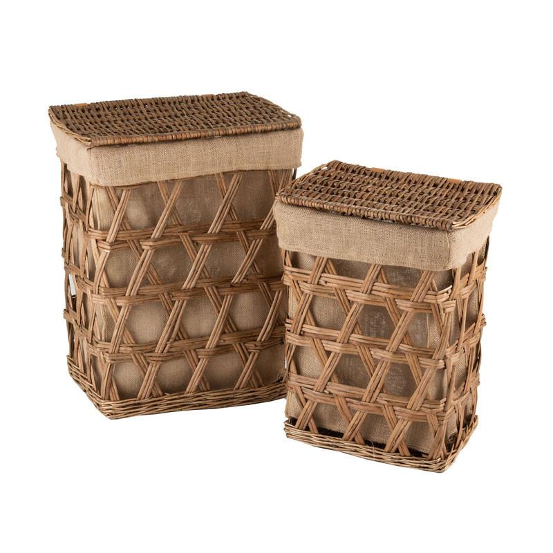Duo de Paniers Fibres/Tissu naturel - MANAMBO