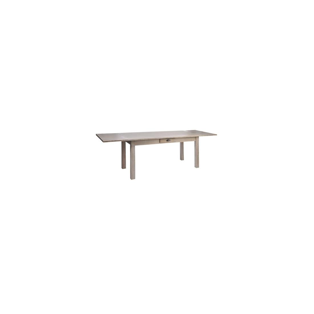 table allonges en bois naturel univers de la salle. Black Bedroom Furniture Sets. Home Design Ideas