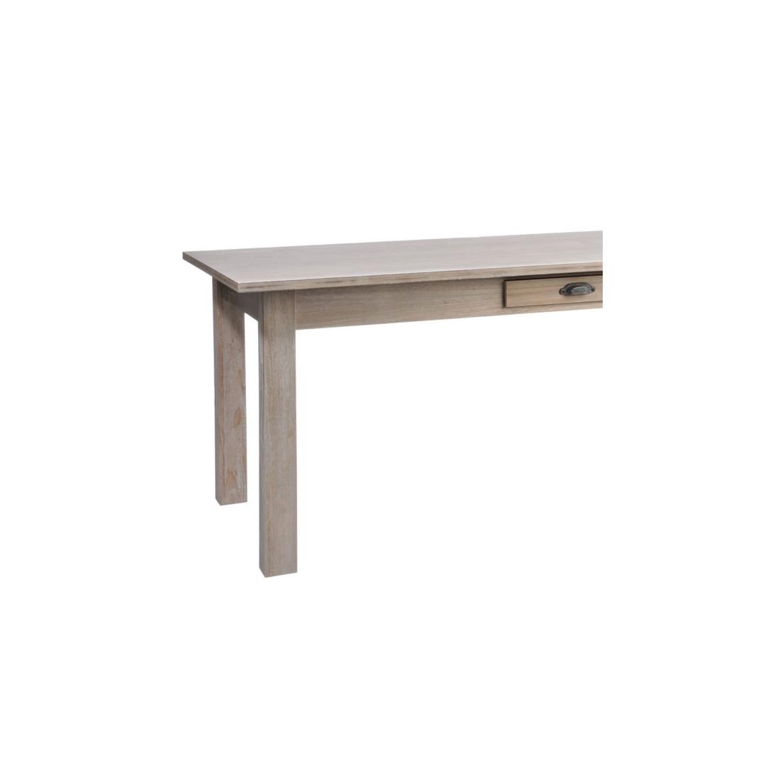 table allonges en bois naturel univers de la salle manger tousmesmeubles. Black Bedroom Furniture Sets. Home Design Ideas