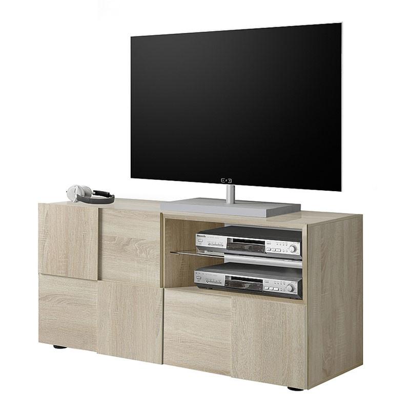 Meuble TV 1 porte 1 tiroir Chêne Clair - TICATO