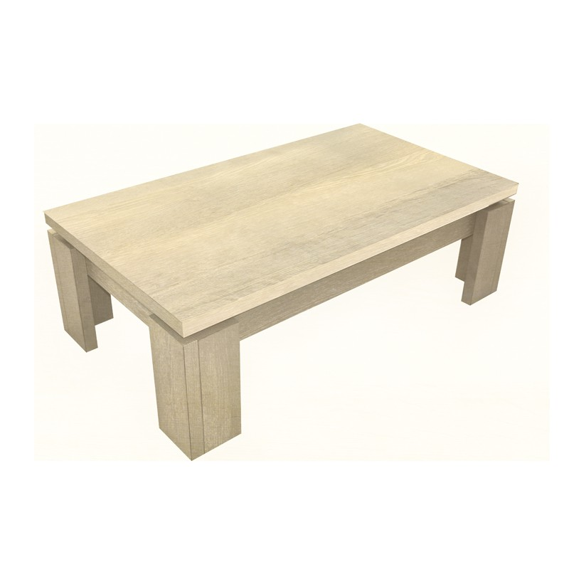 Table basse ch ne clair dakar univers du salon - Table basse chene clair ...