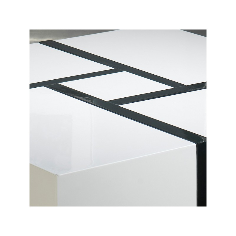 Alinea table basse blanche laque - Table basse carree noire ...