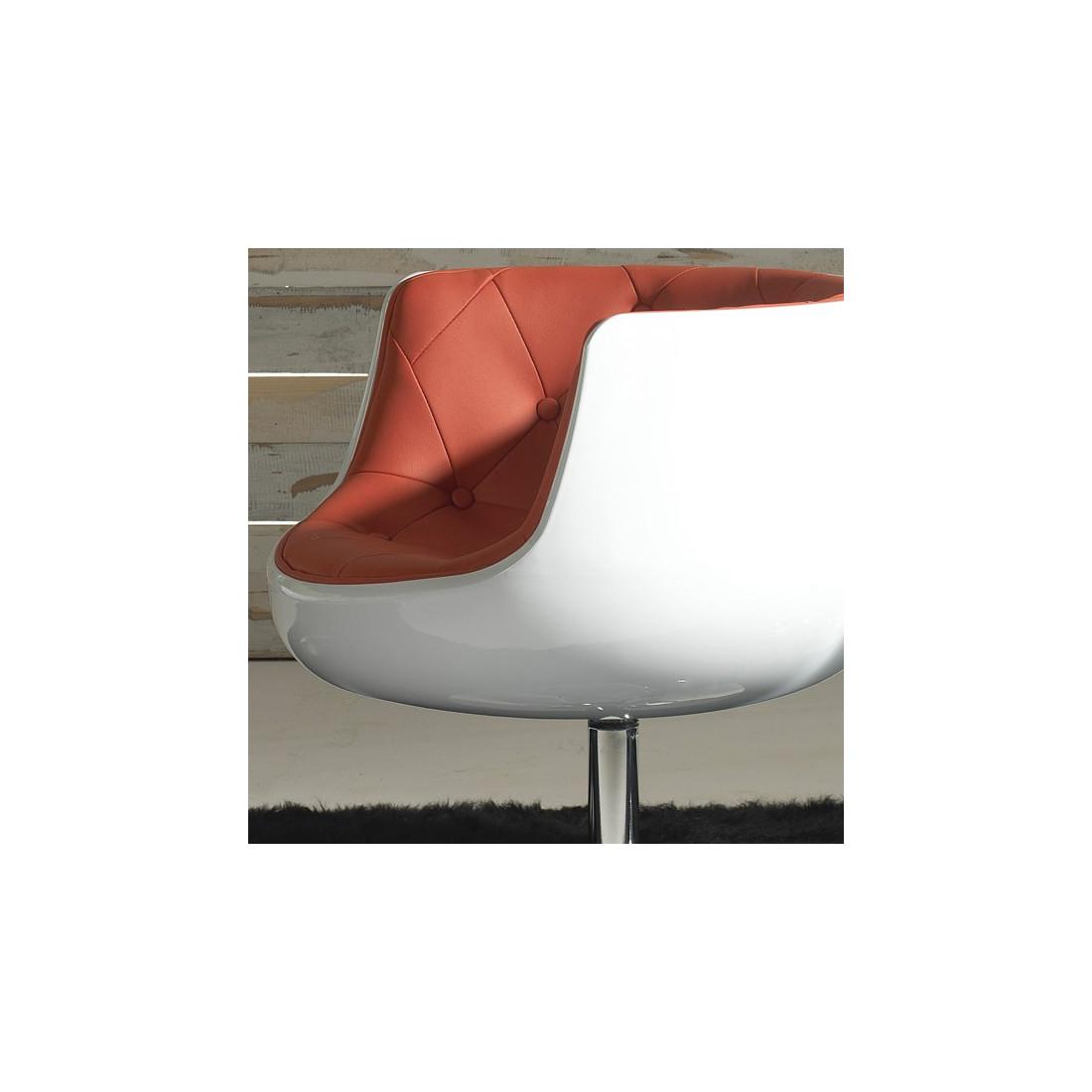 fauteuil simili cuir rouge zola univers du bureau. Black Bedroom Furniture Sets. Home Design Ideas