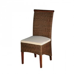 Chaise Rotin coussin