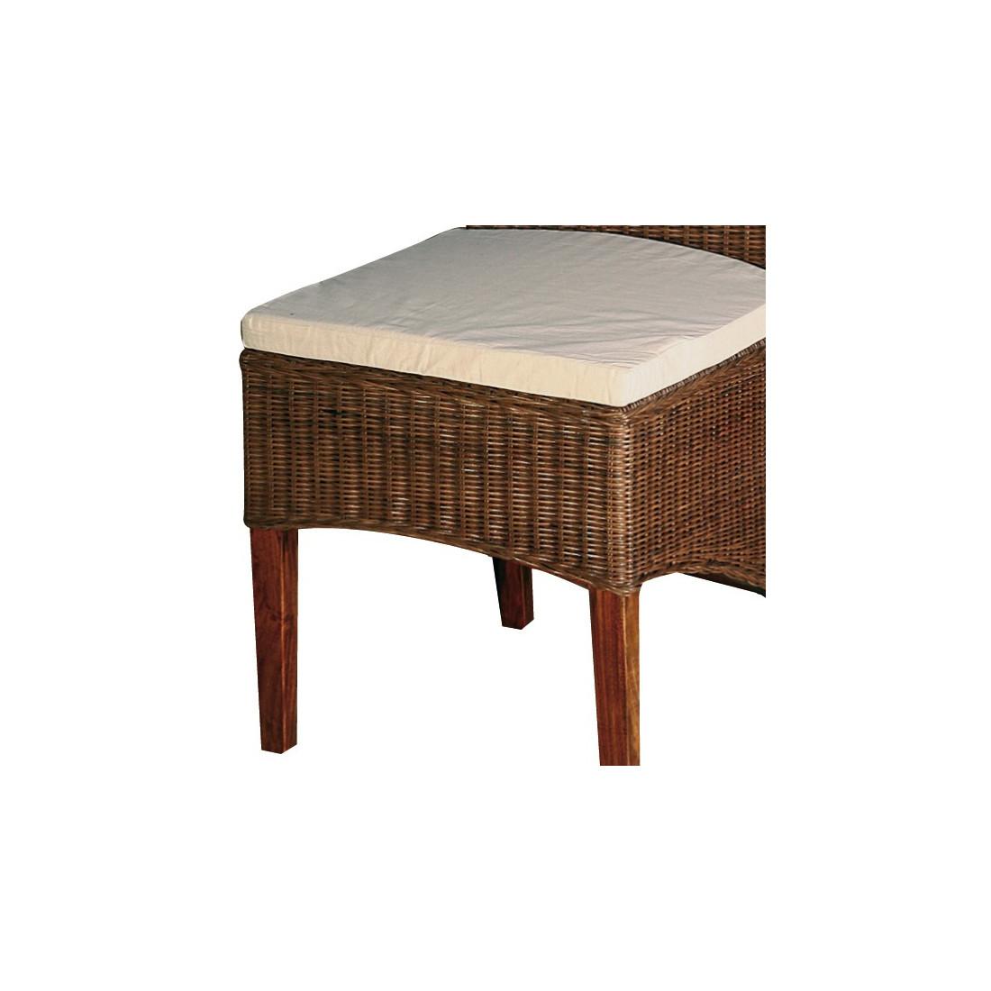 chaise rotin coussin leia univers assises tousmesmeubles. Black Bedroom Furniture Sets. Home Design Ideas