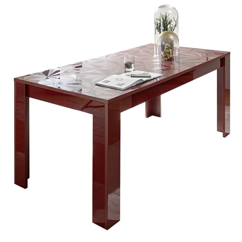 Table de repas rectangulaire Laquée Rouge brillant - Kioo