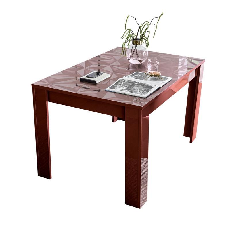 Table de repas à allonge Laquée Rouge brillant - Kioo
