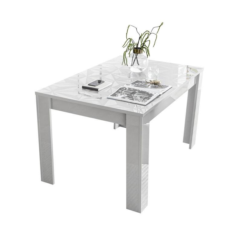 Table de repas à allonge Laquée Blanc brillant - Kioo
