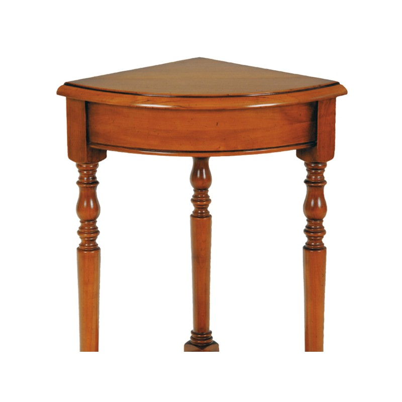 Console d 39 angle en merisier clichy univers petits for Petite table d angle