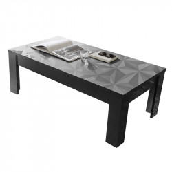Table basse rectangulaire Laquée Gris brillant - Kioo