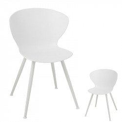 Duo de Chaises Blanches - CINEY