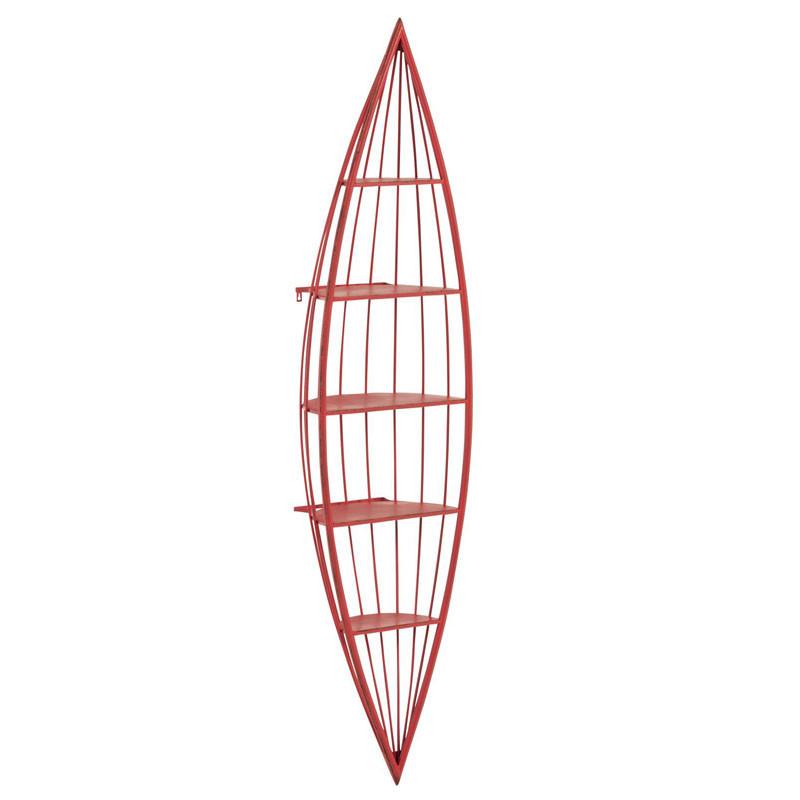 Étagère en forme de canoë Métal rouge - FLEURUS