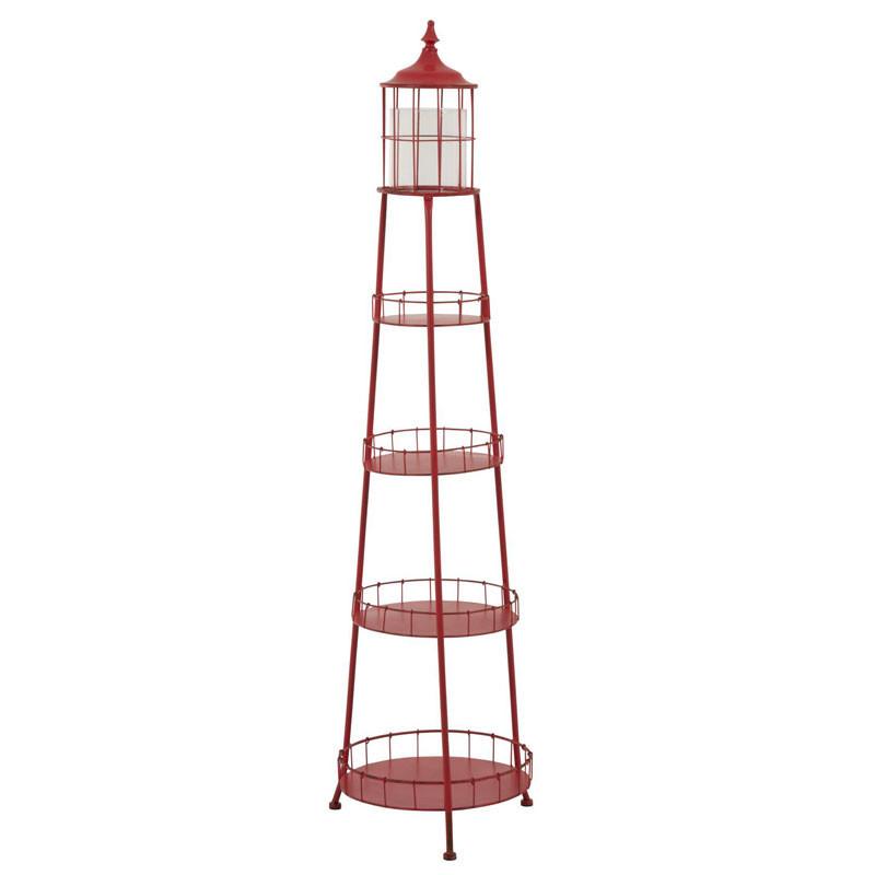 Étagère en forme de phare Métal rouge - FLEURUS