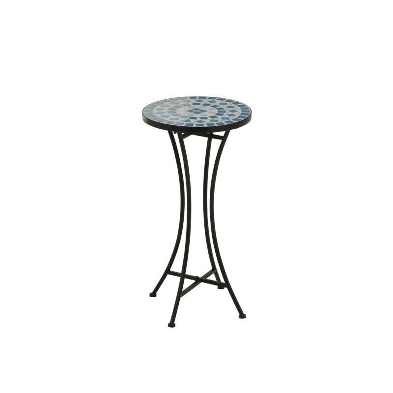 Sellette ronde Noir/Mosaïque bleue - NEWIA n°2