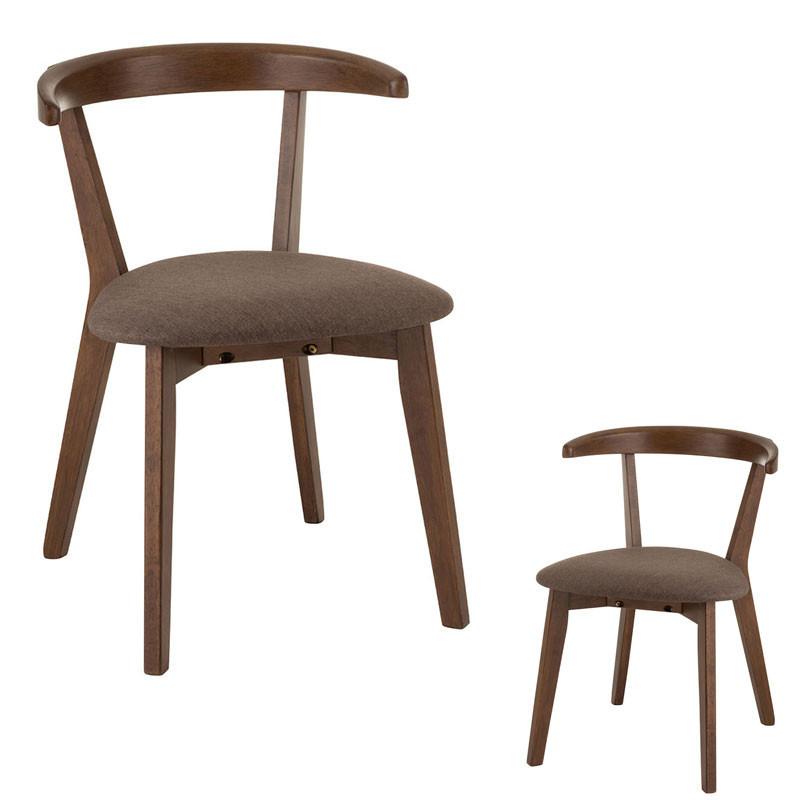 Duo de Chaises à coussin Bois marron - MORTSEL