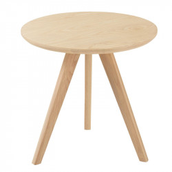 Table d'appoint ronde Bois naturel taille M - ZAMOSC