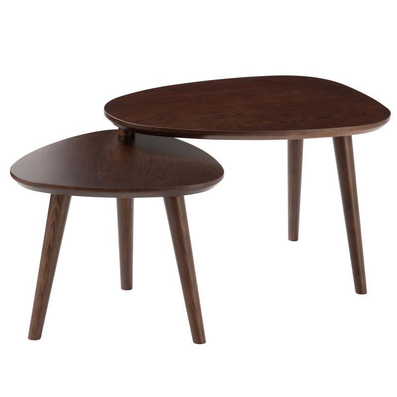 Tables gigognes Bois marron - MORTSEL