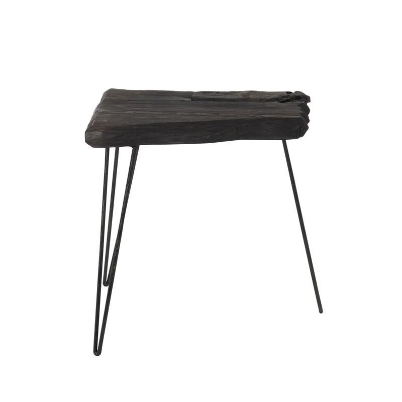 Table d'appoint Bois/Métal noir - MELEA