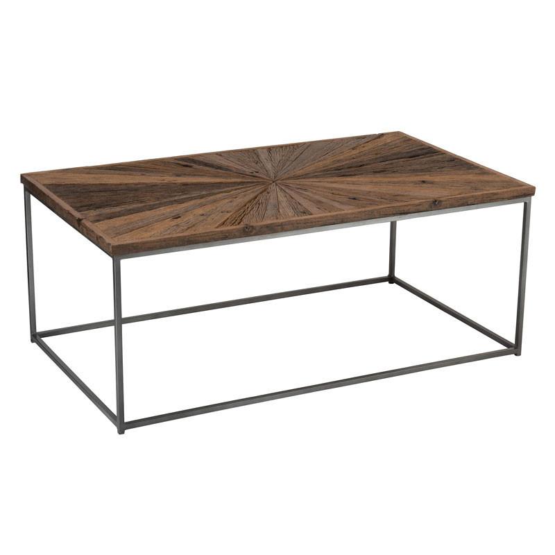 Table basse rectangulaire Bois/Métal - ROTTERDAM