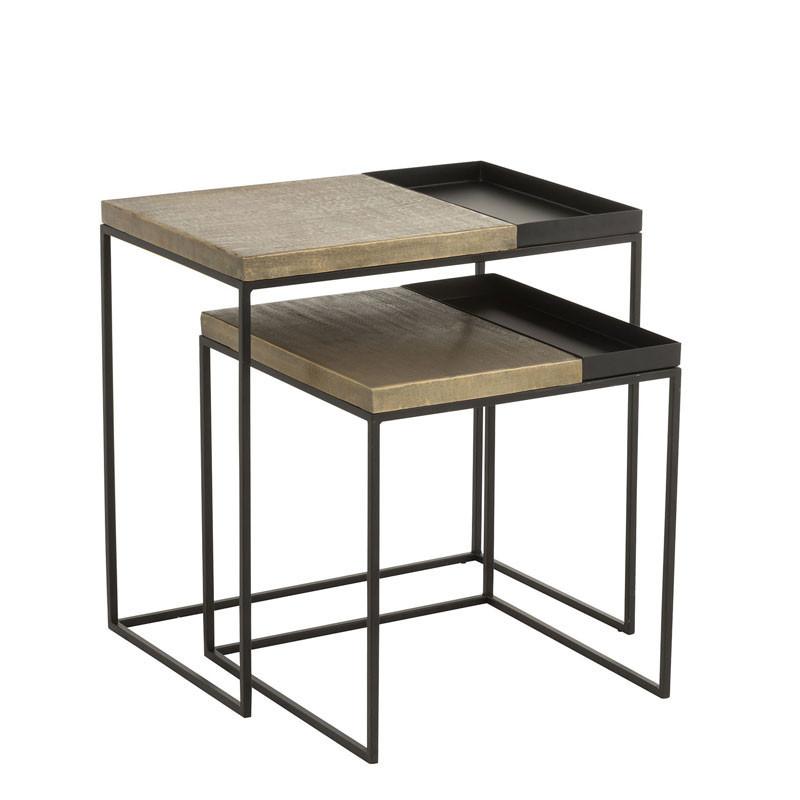Tables gigognes Métal noir/or - NIMEGUE