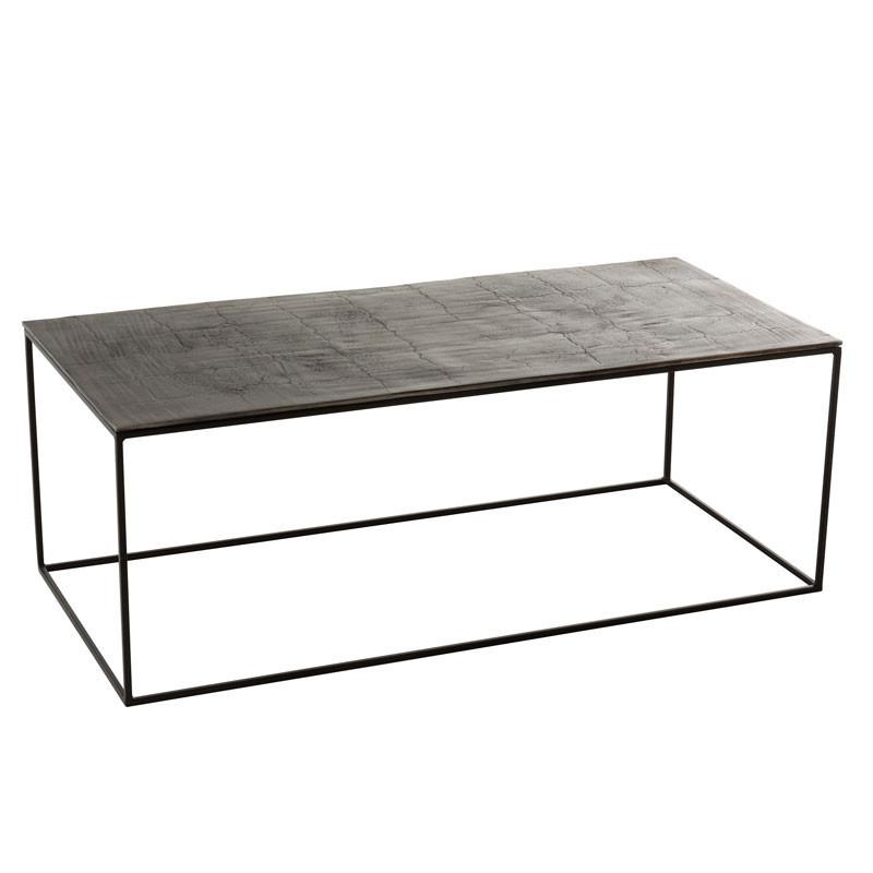 Table basse rectangulaire Métal noir - ZANDVORT