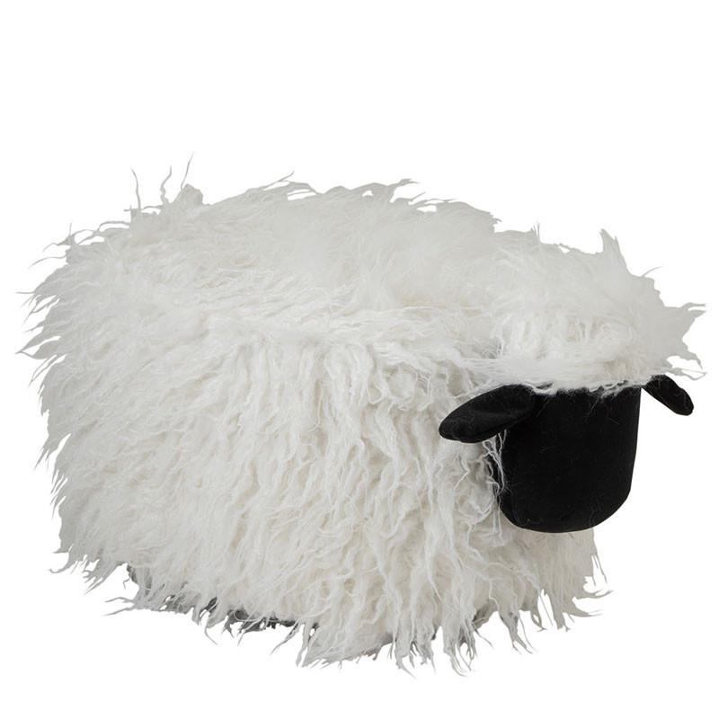 Pouf en forme de mouton Écru/Noir - SHEEP