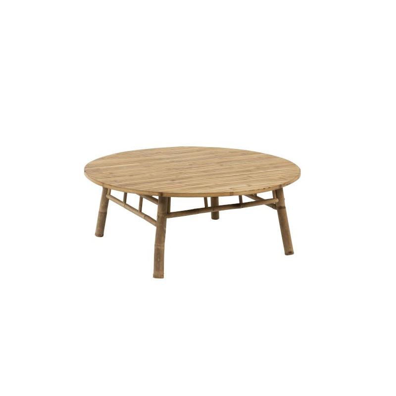 Table basse ronde d'extérieur Bambou naturel - LIVIA