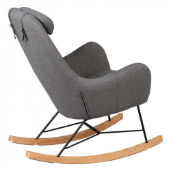 Rocking Chair Enfant Gris - KIDMEANS