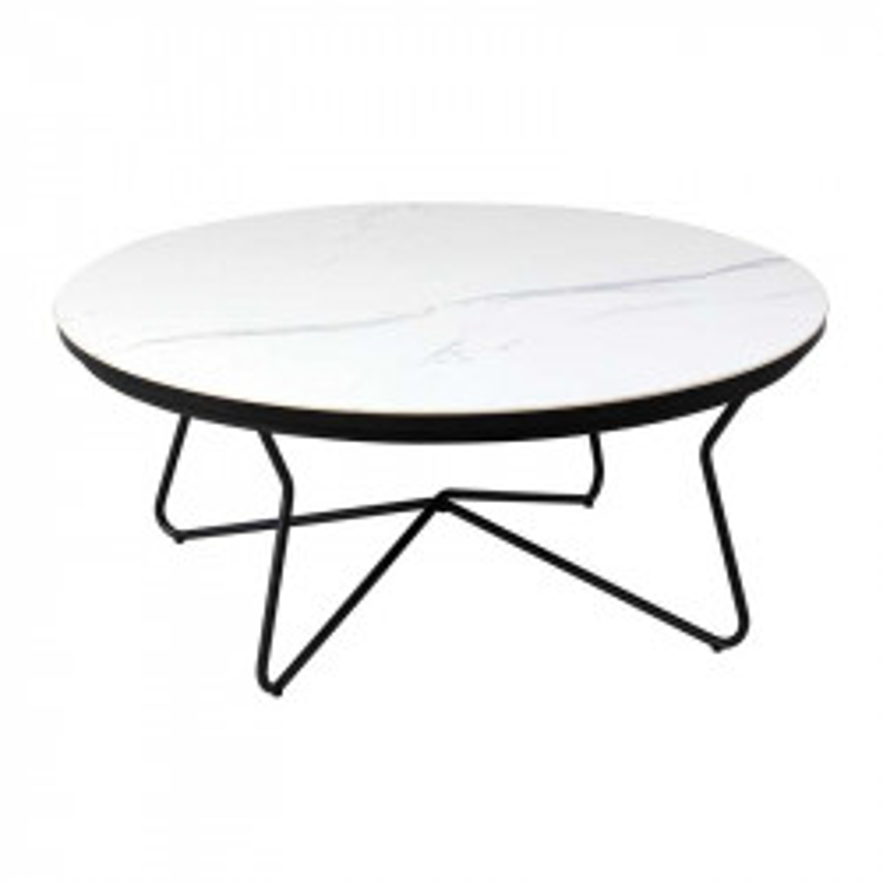 Table basse ronde Métal/Céramique - TOCSA