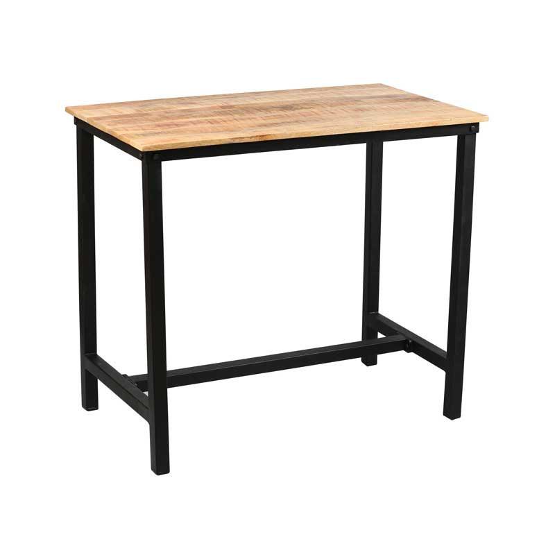Table mange-debout Acier noir/Bois massif - CHALERSTON