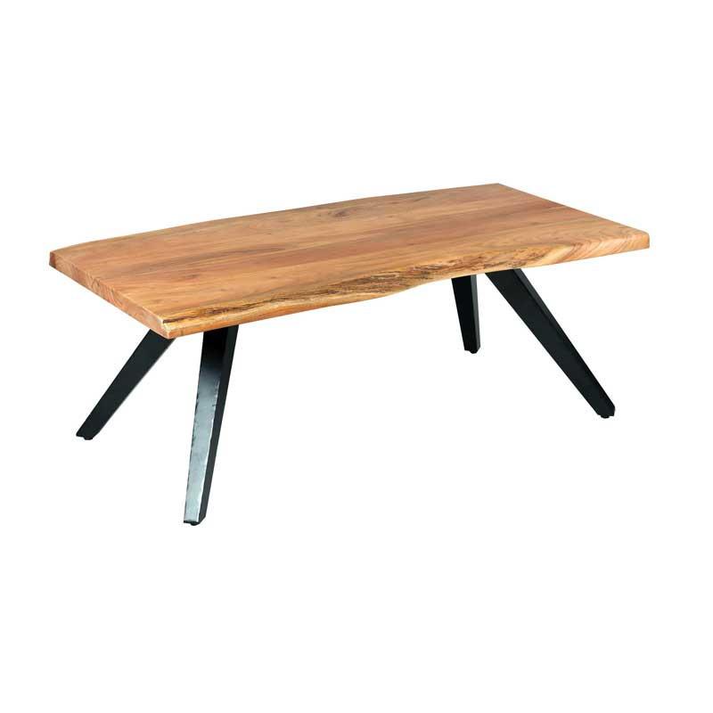 Table basse rectangulaire Métal/Bois massif - CHALERSTON