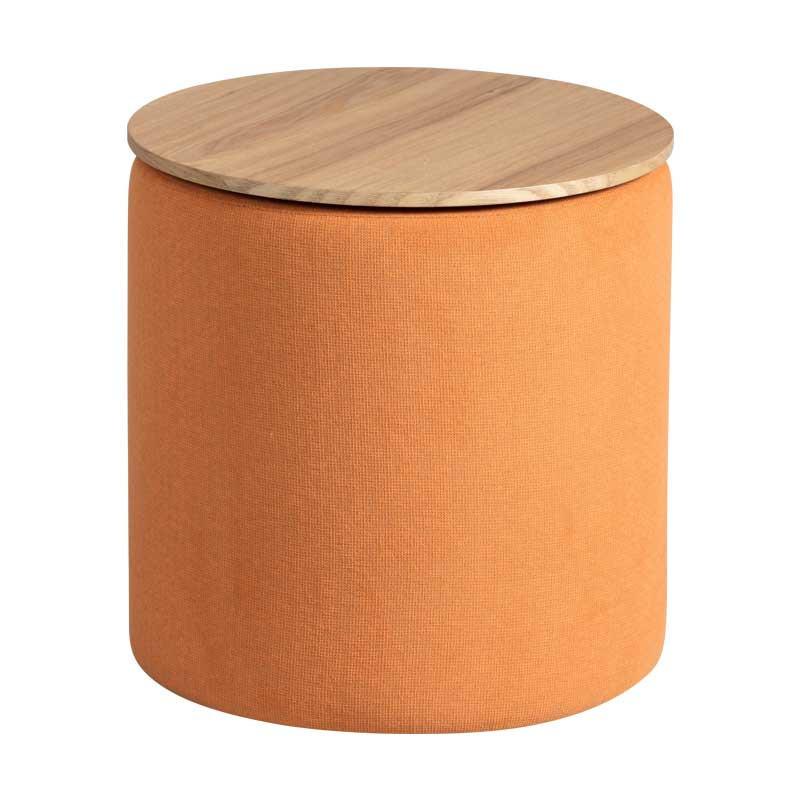 Pouf coffre Tissu orange - MORELIA