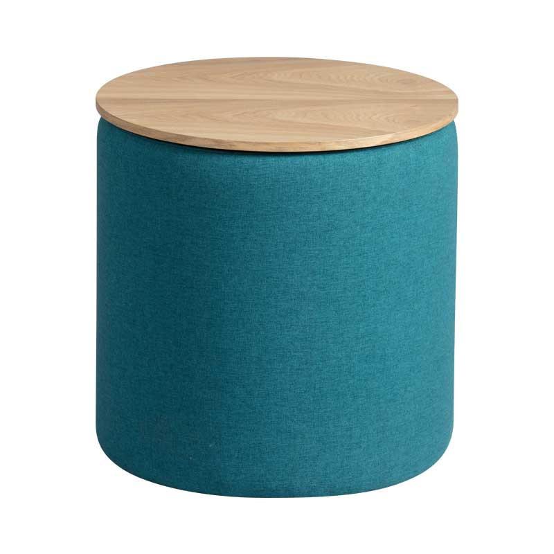 Pouf coffre Tissu bleu - MORELIA