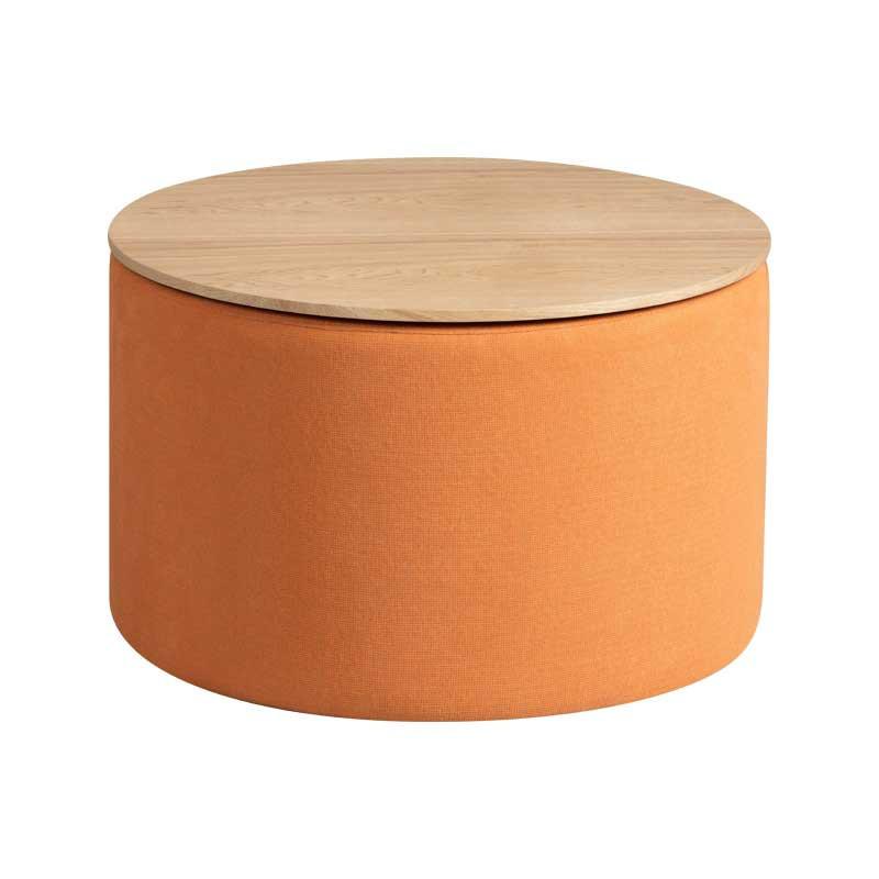 Bout de canapé coffre Tissu orange - MORELIA