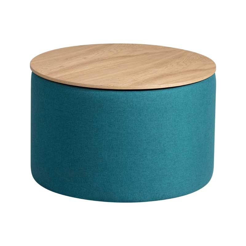 Bout de canapé coffre Tissu bleu - MORELIA