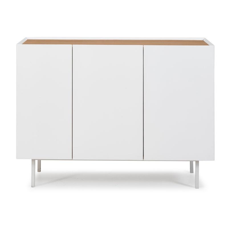Buffet 3 portes 3 tiroirs Blanc/Chêne - MELYS