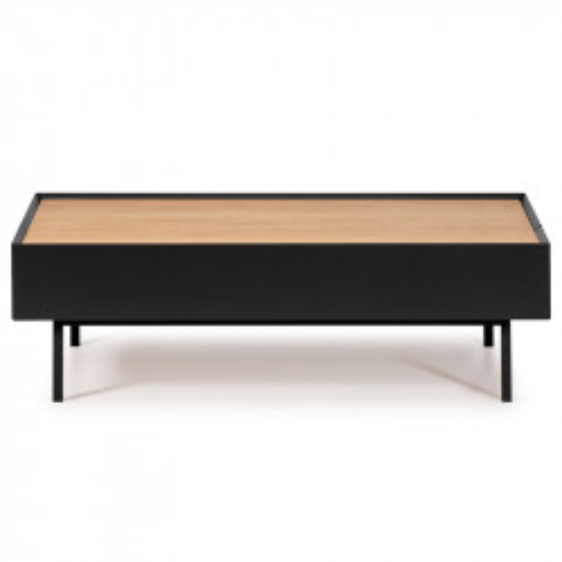 Table basse rectangulaire Noir/Chêne - MELYS